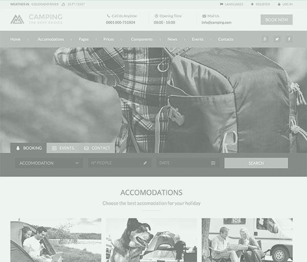 Webseite für Campingplatz
