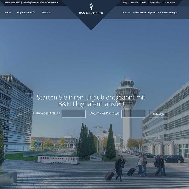 Flughafentransfer Pfaffenhofen - Referenz | BrookDesign