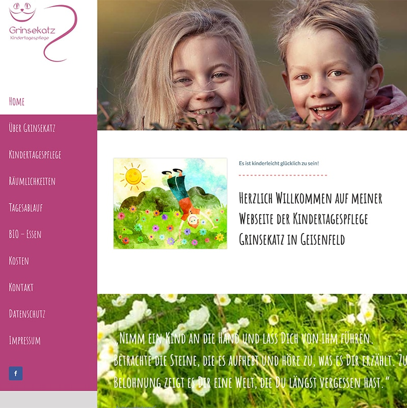Kindertagespflege Grinsekatz - Referenz   BrookDesign