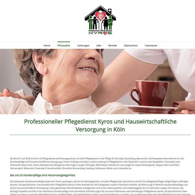 Pflegedienst Kyros - Referenz | BrookDesign