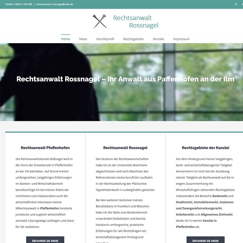 Rechtsanwalt Rossnagel - Referenz | BrookDesign
